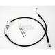 Rear Standard Length Black Vinyl Braided Stainless Steel Brake Line Kit - 1741-2961