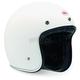 White Custom 500 Helmet