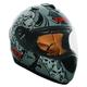 Matte Gray RR702 Zombie Helmet
