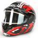 Black/Dark Silver/Red CL-16SN Shock Helmet w/Electric Shield