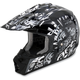 Black Pearl White Shade FX-17 Helmet
