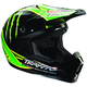Black/Green/Yellow Quadrant Pro Circuit Helmet