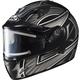 Black/Silver/Dark Silver IS-16SN Ramper Helmet w/Electric Shield