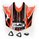 Orange/Black Visor for HJC CL-X6 Slash Helmet - 732-969