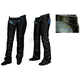 Womens Black Studded Chaps