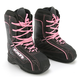 Womens Black/Pink Cold Cross Boots