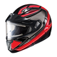 Black/Red/White CL-MAXIIBTSN Zader Modular Helmet w/Electric Shield
