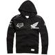 Black Honda Fleece Zip Hoody