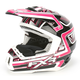 Fuchsia/Black Torque Helmet