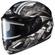 Black/Dark Silver/Silver CL-16SN Shock Helmet w/Electric Shield