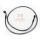 Black Pearl Designer Series 180 Degree Top Angle Custom Single-Disc Front Brake Line - 46440SW