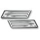 Chrome Deep Cut Dresser Saddlebag Latch Covers - 03-529