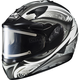 White/Black/Silver IS-16 Lash Helmet w/Electric Shield