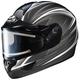 Black/Silver/White CL-16SN Razz Helmet w/Electric Shield