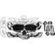 Skull Helmet Sticker Kit - 220151