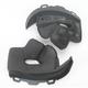 Firm Black Cheek Pad Set for M - L Star Helmets