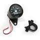 1:1 Ratio Black Faced Mini Mechanical Speedometers With Black Housing - 2210-0255