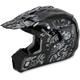 Black Silver Shade FX-17 Helmet