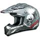 Silver FX-17Y Skull Youth Helmet