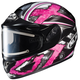Black/Dark Silver/Pink CL-16SN Shock Helmet w/Electric Shield