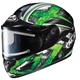Black/Dark Silver/Green CL-16SN Shock Helmet w/Electric Shield