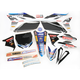 Black JGR Race Team Graphics Kit w/Seat Cover - N402681