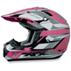 FX-17Y Pink Multi Youth Helmet