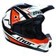 Orange Quadrant Race Helmet