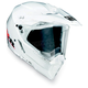 White AX-8 Dual Sport Helmet