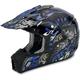 Black Blue Shade FX-17 Helmet