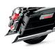 Chrome 4 in. Scallop Slant-Cut Slip-On Mufflers w/2 in. Standard Baffles - FLH-529S