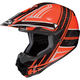 Orange/Black/Silver Slash CL-X6 Helmet