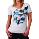 Womens White/Turquoise Chop T-Shirt