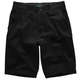 Boys Essex Black Pinstripe Shorts