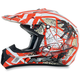 Youth Orange FX-17Y Trap Helmet
