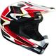 Black/White/Red Quadrant Spiral Helmet