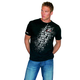 Black Team Print T-Shirt