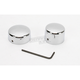 Rear Chrome Axle Caps - DS-222884
