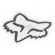 White 4 in. FoxHead Sticker - 14422-008-NS