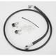 Front Standard Length Black Vinyl Braided Stainless Steel Brake Line Kit - 1741-2526