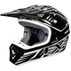 Black/White Octane Helmet