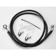 Front Extended Length Black Vinyl Braided Stainless Steel Brake Line Kit +8 in. - 1741-2536