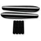 Gloss Black Powdercoat Front Turn Signal Mount Block-Off Plates - C1306-B