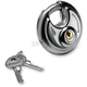 Stainless Shrouded Round 70mm Key Padlock - 720018-850434