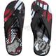 Red Shattered Flip Flops