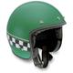 RP60 Cafe Racer Green Helmet