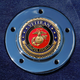 Max 1.8 Inch Timing Cover Coin Mount With Veteran US Marine Corps 2-Sided Coin - JMPC-M-5-VMARINE