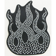 Rhinestone Flames Helmet Patch - 61466