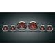Classic Red Medallion Premium Bagger Gauge Kit - 8960-00113-01