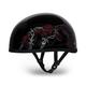 Barbed Roses Skull Cap Half Helmet